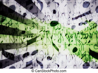 Music grunge paper background