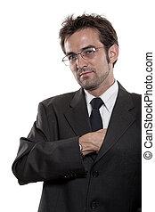Young attractive twenties caucasian man in tie