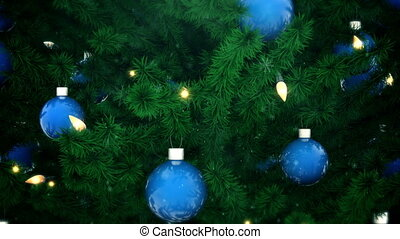 Christmas tree decoration - New Year tree with balls and...