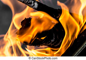 fogo, chama, fundo