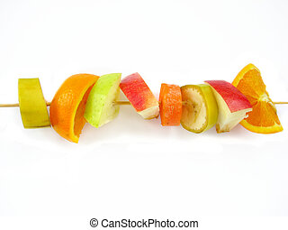 body care - spit of fruits for slim body