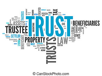 Wordcloud Trust - Wordcloud with Trust related tags