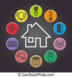 smart house - illustration of background symbolizing the...