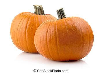 Studio shot of pumpkins isolated on white - Studio shot of...