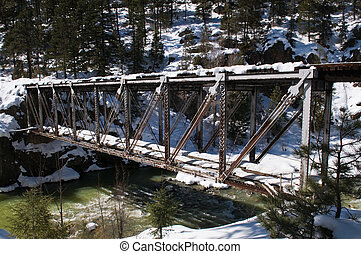 Trestle - Railroad trestle over the Animas River north of...