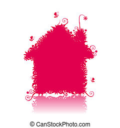 Pink house See also floral style images in my gallery