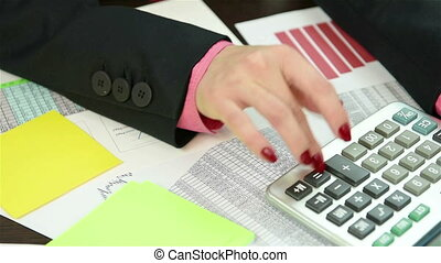 Accountant Writing Amount Of Earnin - Accountant Writing On...