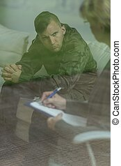 Soldier after traumatic experience - Picture of soldier...