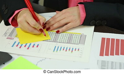 Accountant Calculates Profit And Writes On Paper