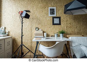 Modern place tu study - Modern minimalist place to...