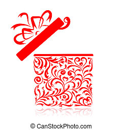 Floral gift box. See also floral style images in my gallery