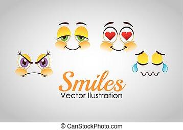 smiley faces design