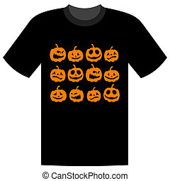Halloween holiday, t-shirt design