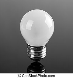 Small opaque bulb with reflection