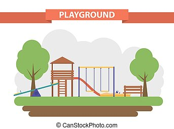 playground. set of elements for the construction - A...