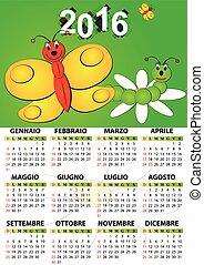 2016 calendar butterfly italian - 2016 butterfly calendar...