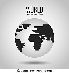 earth planet design, vector illustration eps10 graphic