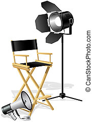 Director Chair - Chair, Megaphone and searchlight