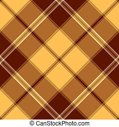 Seamless yellow and brown pattern