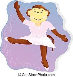 Monkey ballerina