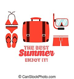 the best summer design, vector illustration eps10 graphic