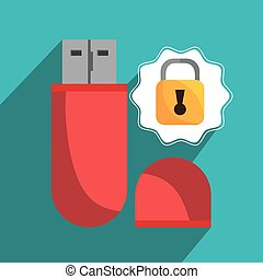 Technology electronic device icons, vector illustration...