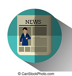Mass media news graphic design with icons, vector...