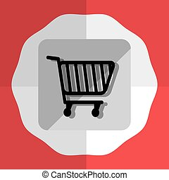 Shopping cart Round icon graphic - shooping cart Round icon...