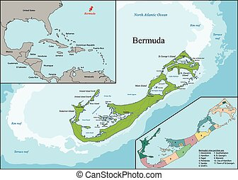 The Bermudas or Somers Isles - Bermuda is a British Overseas...