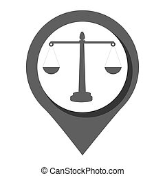 Law and order Round icon graphic