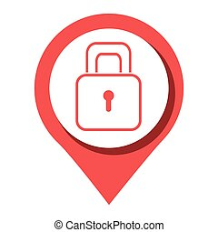 Security padlock Round icon graphic - security padlock Round...