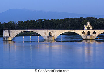 Avignon in France - Medieval bridge in Avignon in France