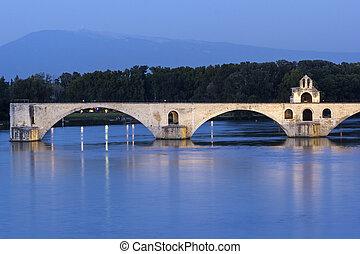 Avignon in France - Medieval bridge in Avignon in France