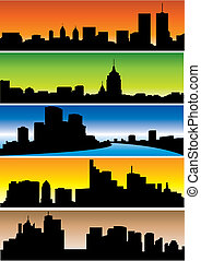Skylines. Set. Vector illustration for you design