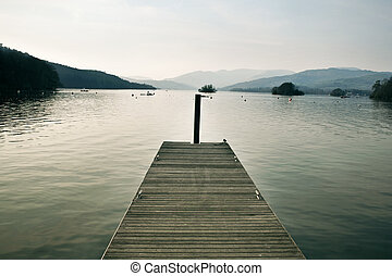 Windermere - a pier on Lake Windermere, UK