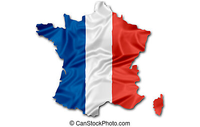 Map of France flag