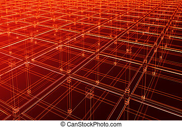 architectural surface - 3D abstract - architectural infinite...