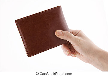 Wallet hand concept - Hold wallet hand concept Wallet...