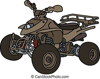 All terrain vehicle - Hand drawing of an olive all terrain...
