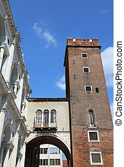 tower called Tower of Torment in Piazza delle Erbe in...