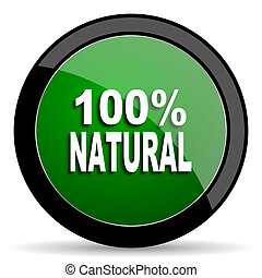 natural green web glossy icon with shadow on white...