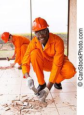 african builder building renovations - happy african builder...