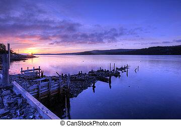 Abandoned fishing peir, Newfoundland, Canada