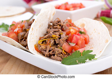 pork cornita with pico - pork or beef cornita taco with pico...