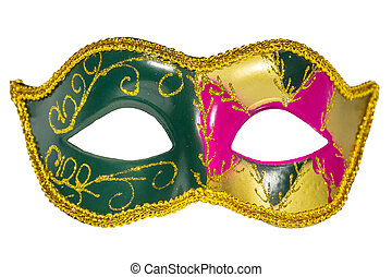 Venetian Carnival Mask patterned asymmetrical frontal...