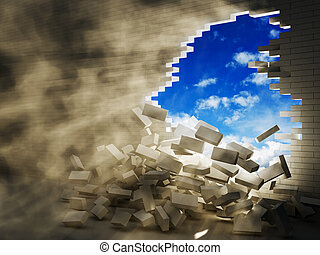 breaking wall - conception of destructive forces 3