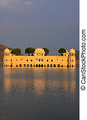 Jal Mahal and Man Sagar Lake in Jaipur, Rajasthan, India Jal...