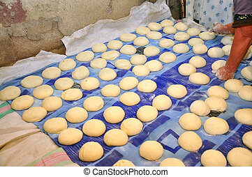 Preparation of traditional Armenian bread