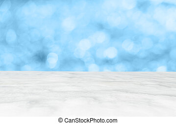 Blurry blue backgrond with ice