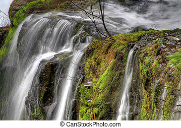 Panther Creek Falls in Skamania County Washington